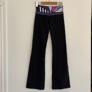 lululemon Groove Yoga Pant Quilt Waistband Luon Sz2